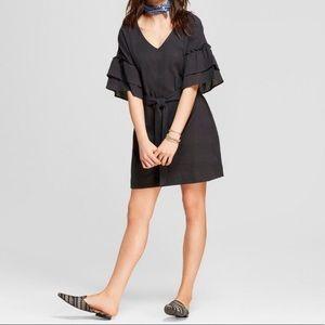 **NWT** Universal Threads Grey Ruffle Dress